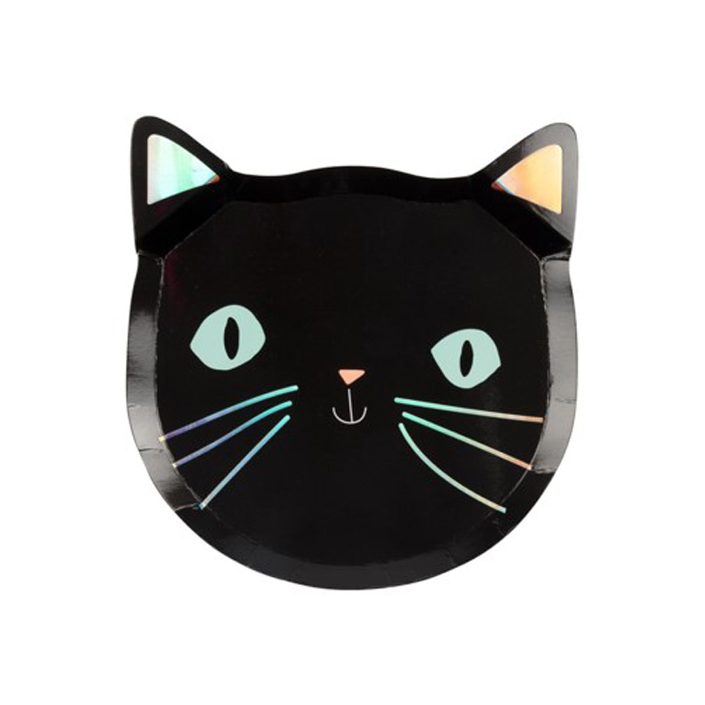 BUY ME / NEW ITEM $9.99 each Black Cat Paper Plates - 8 Pack