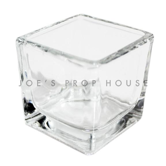 Small Square Clear Glass Votive Cups