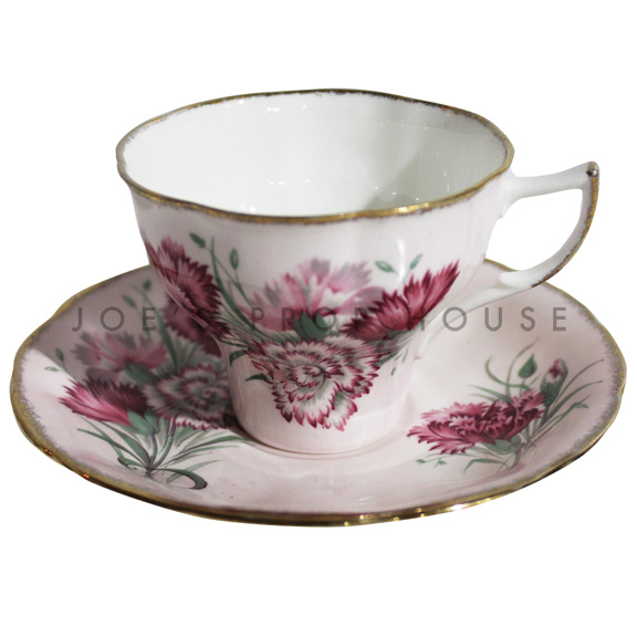 Mia Floral Teacup and Saucer