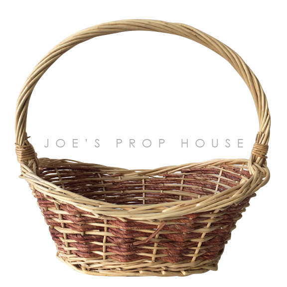 Cait Oval Wicker Basket w/Handle