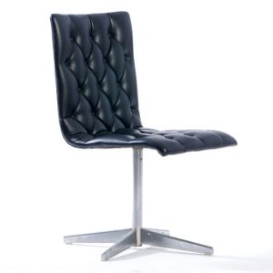 Tuxedo Swivel Tufted Chair Black