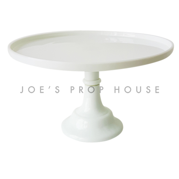 Milk Round Pedestal Cake Stand LARGE White D12in