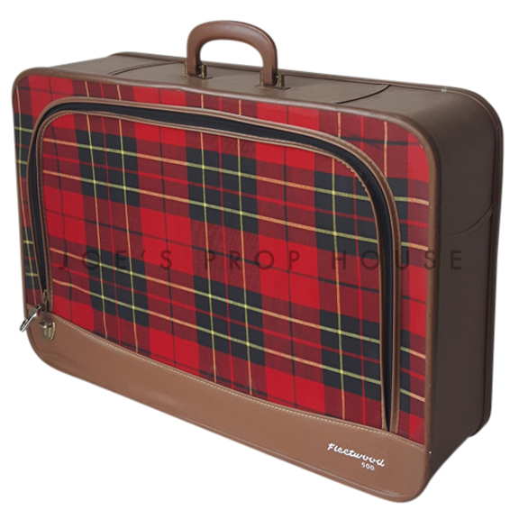 Fleetwood Red Plaid Softshell Suitcase