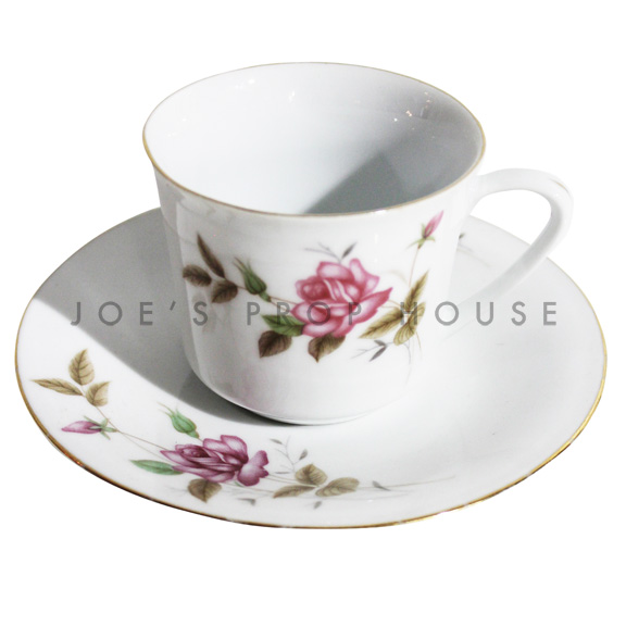 Faith Floral Teacup and Saucer