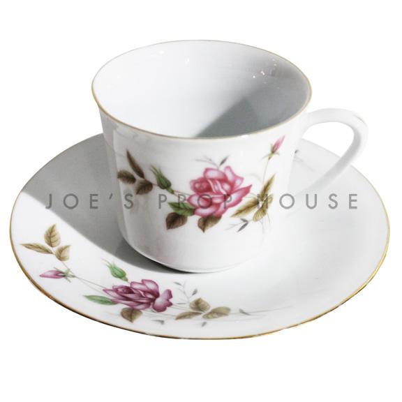 Tasse à thé et soucoupe florale Faith