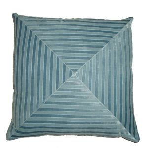 Maze Velour Accent Pillow Powder Blue