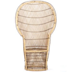 Round Back Wicker Chair