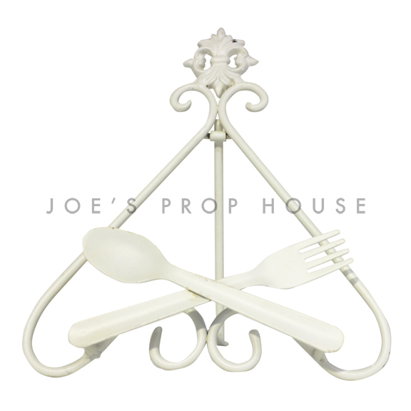 Let's Eat Metal Easel Stand Short Ivory