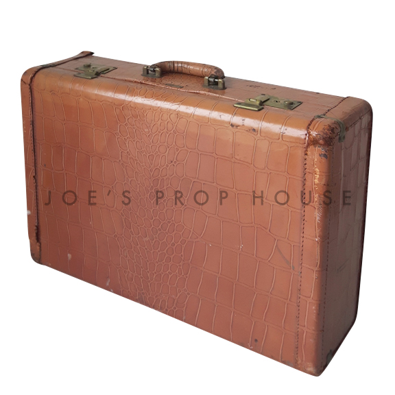 Croc Hardshell Leather Suitcase SMALL