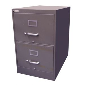 Metal Fining Cabinet Grey
