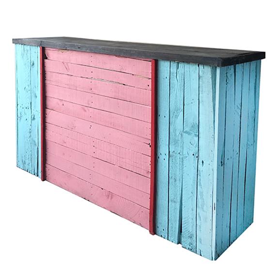 Havana Wood Palette Bar L6ft Turquoise + Pink