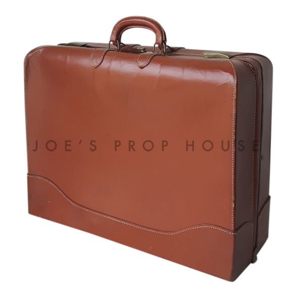 Wiest Leather Suitcase Brown