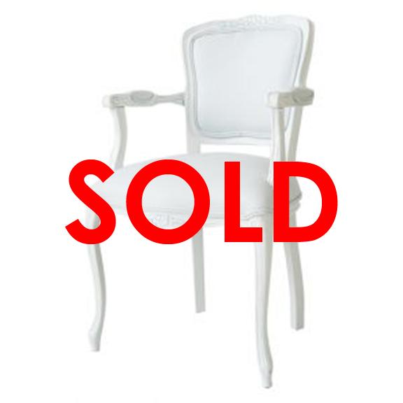 BUY ME / USED ITEM $175.00 each White Vinyl Victorian Armchair