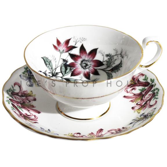 Tasse à thé et soucoupe à fleurs Nicolette