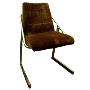 Leann Side Chair Velour Brown