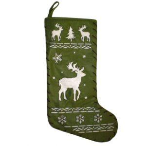 BUY ME / USED ITEM $12.99 Rudolph Green Christmas Stocking