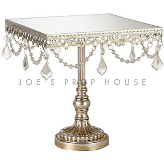 Charlotte Square Metal Cake Stand w/gems