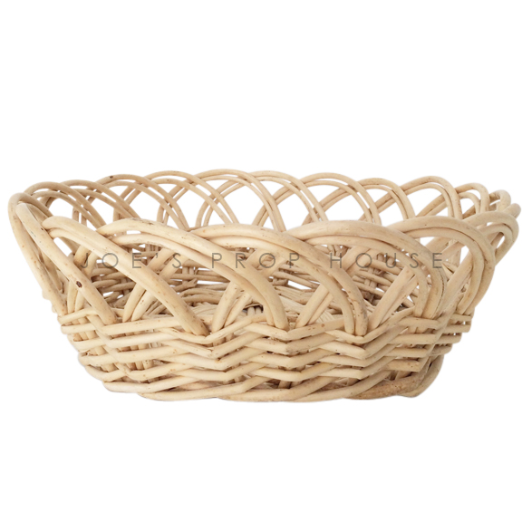 Ellie Round Wikcer Basket Natural