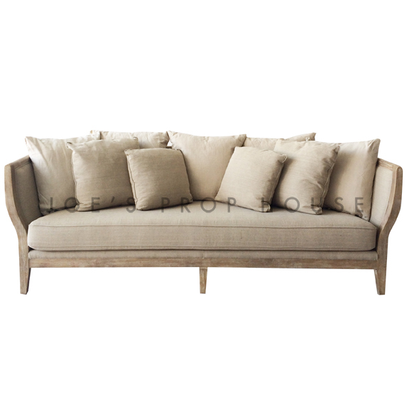Hudson Linen 4-Seat Sofa