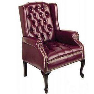 Arthur Tufted Wingback Chair Burgundy