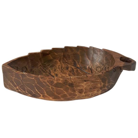 Petit bol à servir les feuilles en bois (Lot de 6)