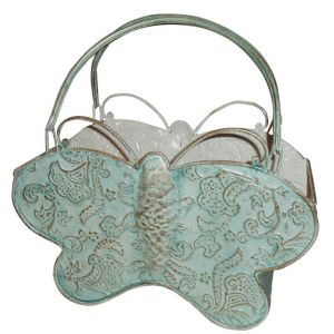 Metal Butterfly Basket w/Handles