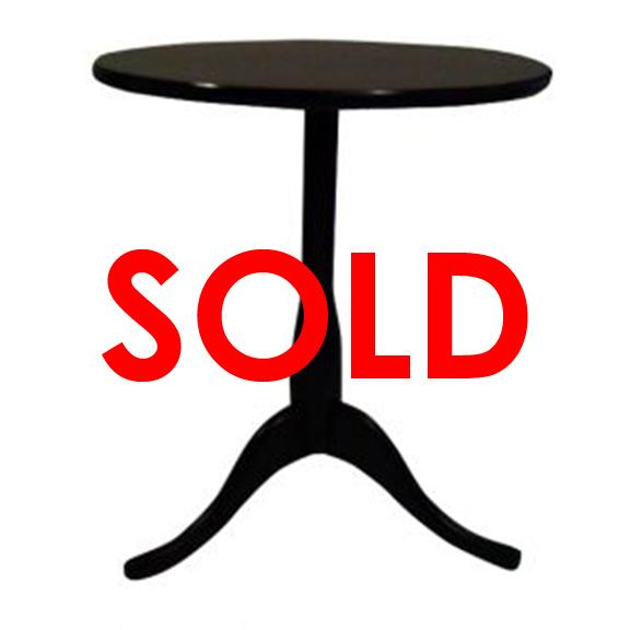 BUY ME / USED ITEM $15.00 each Round Pedestal End Table Black