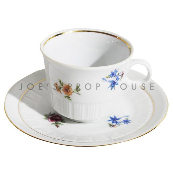 Tasse à thé et soucoupe florale Sheila