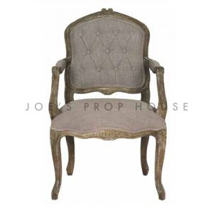Shabby Louis XV Armchair Clay