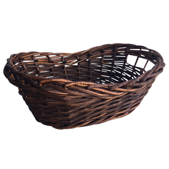 Cole Kidney Wicker Basket MEDIUM Dark Brown