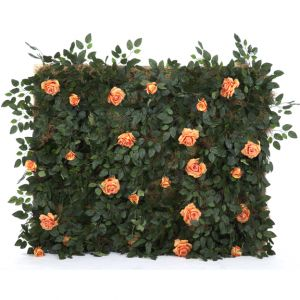 Peach Rose Bush Panel W5ft x H4ft