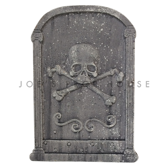 Skull and Bones Foam Tombstone Charcoal