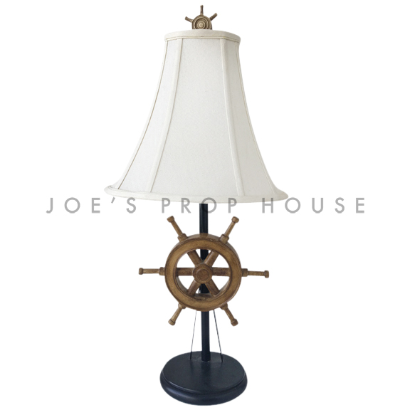 Ahoy Ship Wheel Table Lamp Brown