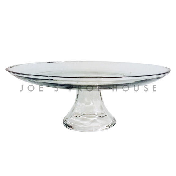 Nicole Clear Round Glass Cake Stand D12n