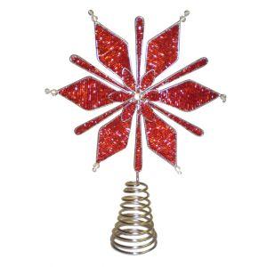 BUY ME / USED ITEM $10.99 each Red Snowflake Tree Topper