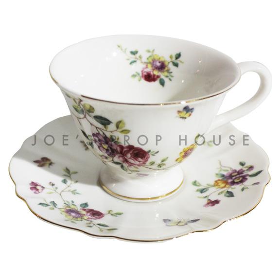 Tasse à thé et soucoupe floral Elba