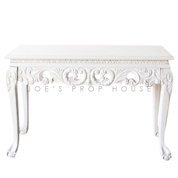 Baroque 4ft Console Table White