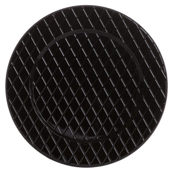 Black Crosshatch Charger Plate