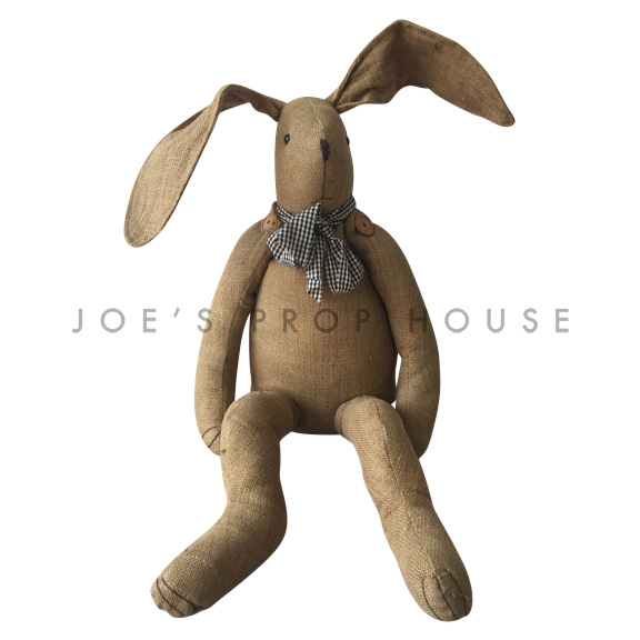Giant Burlap Bunny Brown