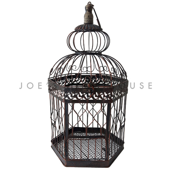 Georgina Metal Birdcage Brown