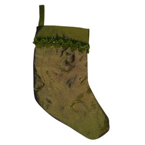 Green Velvet Christmas Stocking