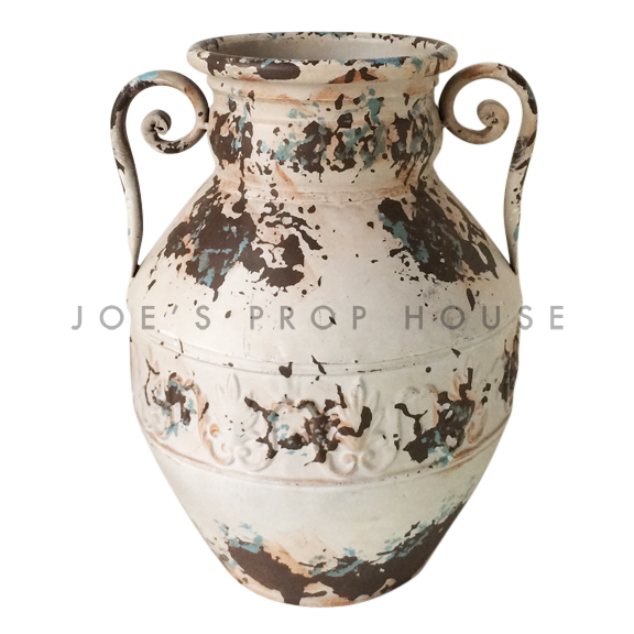 Distressed Metal Tuscan Jug
