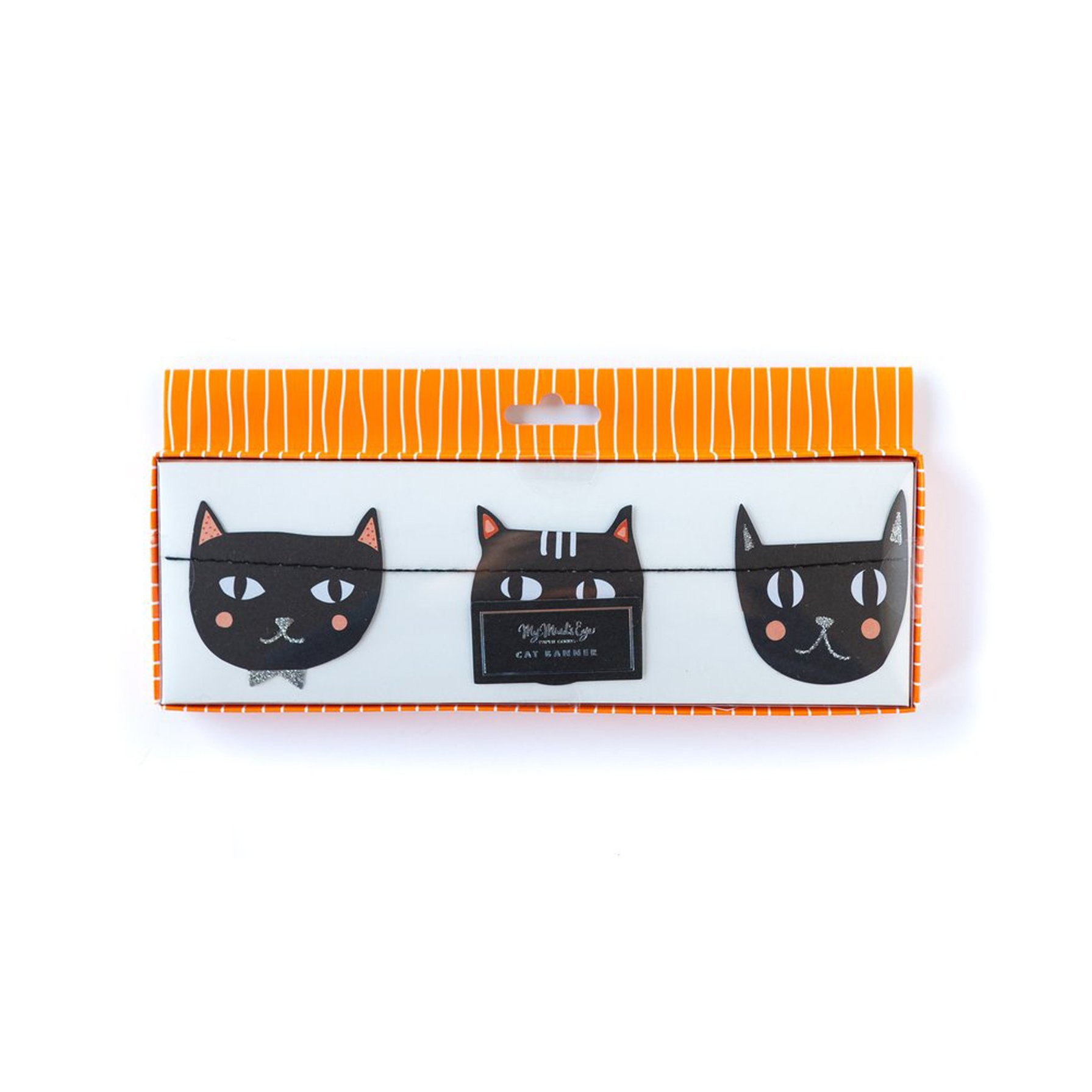 BUY ME / NEW ITEM $12.99 each Halloween Black Cat 6ft Paper Garland