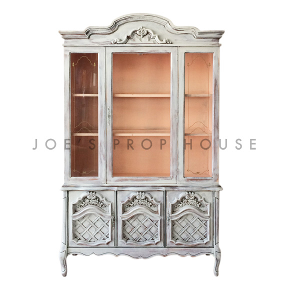 Flora WHITEWASH / Peach Sideboard with Hutch