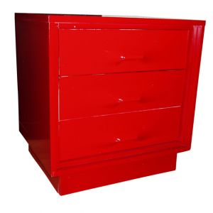 Red Retro Accent Nightstand