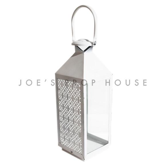 Dalia Metal Lantern White