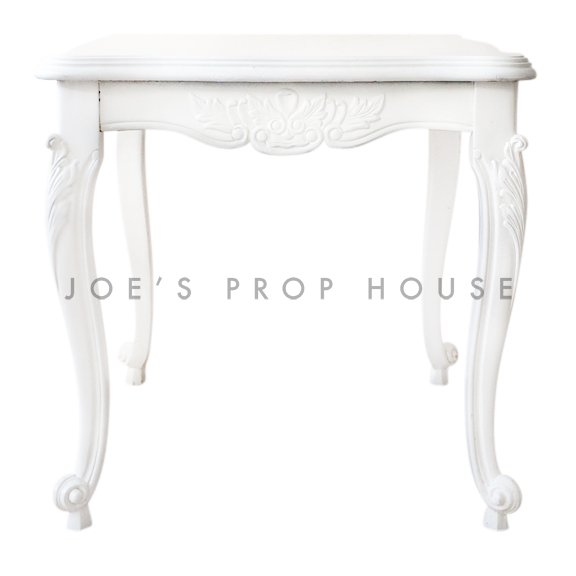 Square Baroque SCALLOP Top Cocktail Table White