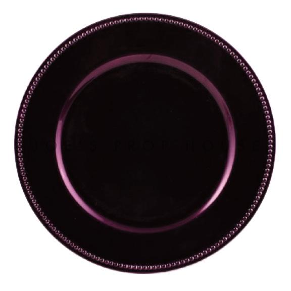 Sous-Assiette Aubergine avec Perles