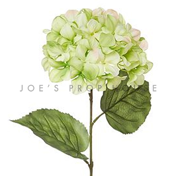 Artificial Long Stem Hydrangea Green