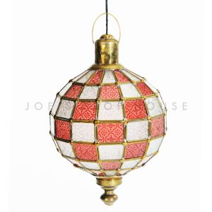 Patchwork Lantern Red